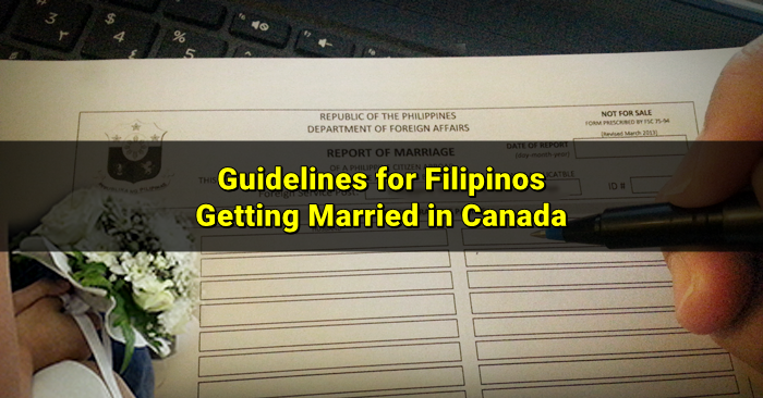 report of marriage canada